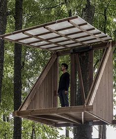 lithuanian woodland island hosts micro home design competition House Gate Design, Tiny House Design, Dynamic Architecture, Delta House, Tree House Designs, Tower House, Micro House, Forest House, Design Competitions