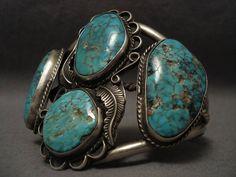 Museum Vintage Navajo Number 8 Turquoise Silver Bracelet – Nativo Arts