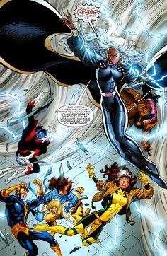 """First rule about the """"fastball special"""". Comic Book Characters, Marvel Characters, Comic Character, Comic Books Art, Comic Art, Storm Xmen, Storm Marvel, Marvel Comics Art, Marvel Dc Comics"""