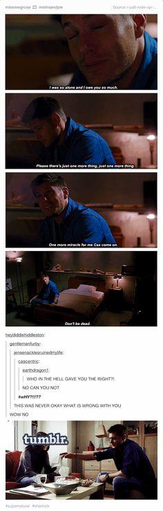 [SET OF GIFS] NO.  NO NO NO NO NO.  8x16 Remember the Titans & 2x03 The Reichenbach Fall. Noooo! Not okay. Not okay. NOOOOO!