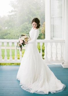 Long-sleeve wedding gown custom made by Tulle & Chantilly #modest #tznius<<<<love love love that dress!!!