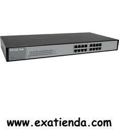 Ya disponible Switch Ovislink gsh16   (por sólo 107.95 € IVA incluído):   -Estándares: - IEEE 802.3: 10BASE-T - IEEE 802.3u: 100BASE-TX - IEEE 802.3ab: 1000BASE-T -Puertos - 16 Puertos de Cobre 10/100/1000 Base-T TP -Soporte de Medios. - 10BASE-T: Categoría 3 ó 4 - 100BASE-TX/1000BASE-T: Categoría 5 TP - 1000BASE-T: Categoría 5, 5E, 6. -Ancho de Banda - 1000BASE-T: 10/20/100/200/2000Mbps. - Ancho de banda en segundo plano: 32 Gbps. -Forwarding/Filtering Rate - 14881
