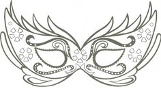 Modelo e molde de máscara de carnaval