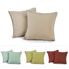 Square Throw Pillows - 2 Pack