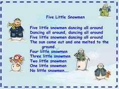 More Snowman Songs! - Re-pinned by @PediaStaff – Please Visit http://ht.ly/63sNt for all our pediatric therapy pins