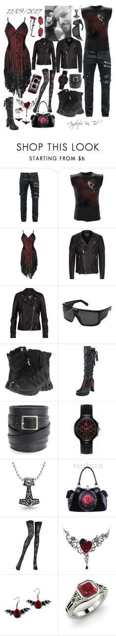 """Gothic Metal"" by angelique-von-tod ❤ liked on Polyvore featuring AllSaints, SET, Dragon Alliance, Reebok, Lacoste, Bling Jewelry, Pierre Mantoux, Diamondere and Casetify"