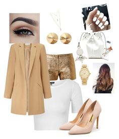 """""""Untitled #19"""" by lyana-chavarria on Polyvore featuring Lanvin, Topshop, Miss Selfridge, Rupert Sanderson, Sole Society, Alexander Wang, Eddie Borgo, Michael Kors, Forever 21 and women's clothing"""
