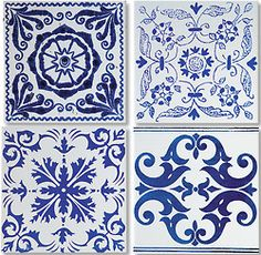 blue tiles    tiles     tiles art     tiles pattern    www.thinkcreativo.com