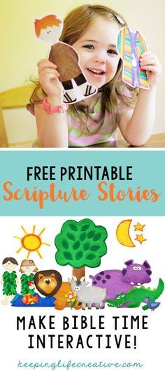 Make Bible Time Interactive with FREE printable scripture story sets.