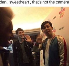 He just always has to be cute and look at phil