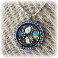 Easter charms arranged in the new Charm Catcher, with the Tanzanite Face. #origamiowl #loveO2 #easter #charms #tanzanite
