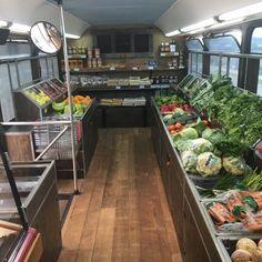 Food Truck Business, Farm Business, Cafe Design, Store Design, House Design, Mobile Food Pantry, Truck Store, Farmers Market Display, Vegetable Shop