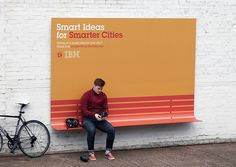 "IBM and Ogilvy are working together to spark positive change with the ""People for Smarter Cities"" project and unite city leaders and forward-thinking citizens. To spread the word, outdoor ads have a purpose in Paris: a bench, a shelter and a ramp were designed not only to be beautiful, but to be useful to city dwellers too. The ads each connect passersby to the site people4smartercities.com."