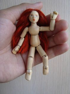 ooak wooden ball jointed doll 35inch scale