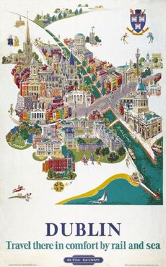 This 1952 travel poster was originally used by British Railways to promote tourism.
