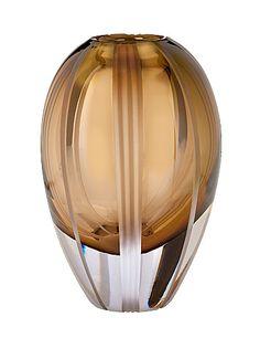 Waterford Evolution 8in Autumn Breeze Vase, Brown