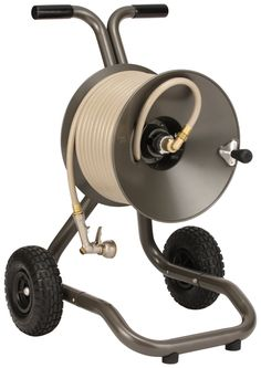 The Eley/Rapid Reel Two Wheel Garden Hose Reel Cart Model #1043 offers a new design that the company hopes will attract the attention and support of the gardening public. http://ehosereel.com/the-eleyrapid-reel-two-wheel-garden-hose-reel-cart-review/