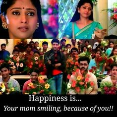 Making your mom smile is the biggest achievement you can ever get in life!!   Keeping her happy is biggest blessing!