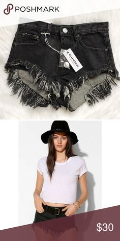 NWT Urban Outfitters Glamorous Frayed Shorts New with tags • Small mark on label • Sold by Urban Outfitters • Super cute & perfect for festival / Coachella / Concerts! Also available in grey sizes XS, S, M. Urban Outfitters Shorts