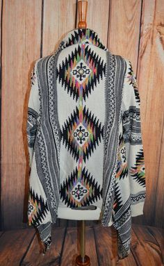 Details about AZTEC CARDIGAN Boho Cowgirl Gypsy Western Softest Knit Sweater S/M nwt - US $44.99 New with tags in Clothing, Shoes & Accessories, Women's Clothing, Sweaters