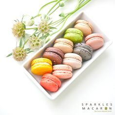 24 Assorted Regular French Macarons Perfect by SparklesMacaron...they have these all over LA and they are delicious!