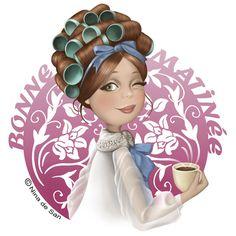 Good morning everyone :) Art And Illustration, Illustrations, I Love Coffee, Coffee Art, Drink Coffee, Art Fantaisiste, Art Mignon, Abraham Hicks, Marquis