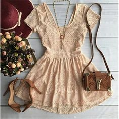 This dress looks like it would be really cute on. I have the perfect shoes! Love the purse