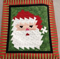A Quilt and A Prayer: Piecing with a Twist! Lil Twister Tool.  Gives Santa's beard etc. texture!!!  I like it.