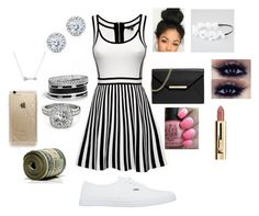 """""""Black and white outfit"""" by happynini on Polyvore featuring Vans, MICHAEL Michael Kors, GUESS, Allurez, Kobelli, Adina Reyter, Full Tilt, OPI and Rifle Paper Co"""