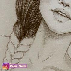 Lápiz De Dibujo A Mano Impresión Fine Art Retrato Por