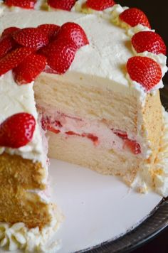 For the Love of Dessert: Strawberry, Mascarpone Layer Cake