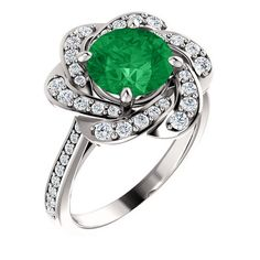 Emerald and Diamond Engagement Ring – Bel Viaggio Designs