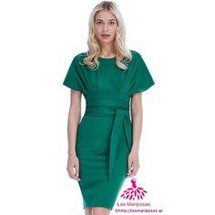 Hannah Kimono Dress in Green
