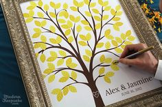 Personalized Wedding Dreams Tree Signature by PERSONALIZEDprints, $38.00