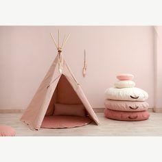 """Nobodinoz """"Sahara"""" Round Bean Bag in Dolce Vita Pink"""