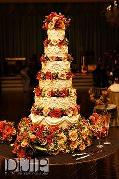 Elegant Fall Wedding Cake Roses Cakes Desserts