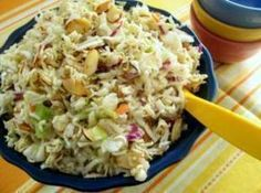Top Ramen Salad.  I also add 1 tsp sesame oil, 1 sml. Can of mandarin oranges and diced chicken.