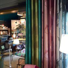 My fabrics hanging at Atelier Pia Thoiry, France/ Mis telas colgadas en Atelier Pia Thoiry Francia#lottihaeger #architecture #arquitectura #casa #color #colour #couleur #design #diseño #decoración #decoration #färg #fabric #furniture #hem #home #inredning #interiordesign #maison #meuble #möbler #patrones #patterns #papierpeint #telas #tyger #tissus #textiles #wallpaper