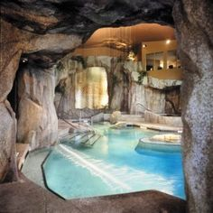 "The Grotto Spa at Tigh Na Mara, Vancouver Island. When I came across this picture initially, I pinned it in ""Architecture""...but that wasn't right. What really caught my eye about it wasn't the design, but the fact that, although I have never seen this place before in my life, it has been showing up in my recurring dreams since childhood. So obviously I need to go there sometime."