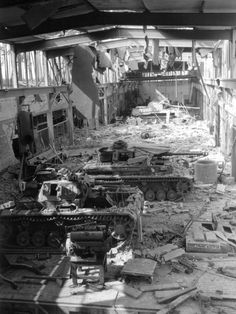 Pz. III, Pz. IV. the Panther, factory destroyed