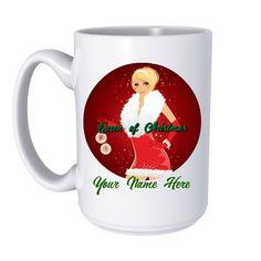 Queen of Christmas Mug, Christmas Gifts, Custom Mug, Personalized Gift, by ForYouByRose on Etsy