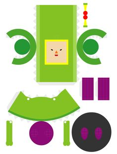 The Prince from Katamari Damacy. Difficulty level: Very Easy. (Note: This is the first papercraft piece I constructed!)