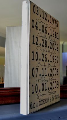 Important Dates Wood Sign Anniversary Gift Family by CSSDesign, $40.00
