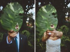 creative couples portrait by Jonathan Connolly, Florida wedding photographers | via junebugweddings.com