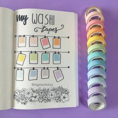 How to show your washi collection in your Bullet journal #bullertournal #bujo #washi