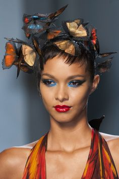 The Prettiest Beauty Looks from Paris Haute Couture Spring 2014: Jean Paul Gaultier