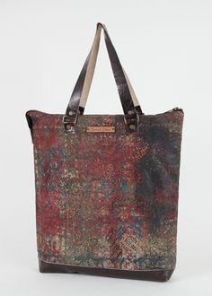 Unique Hand Block Printed Handbag. $80.00, via Etsy.
