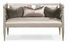 Caracole Upholstery Decked Out Upholstered Settee by Schnadig