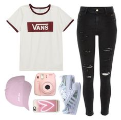"""Every minute and every hour, I miss you 🌸"" by feel-like-infinity ❤ liked on Polyvore featuring Vans, River Island, Fujifilm and Casetify"