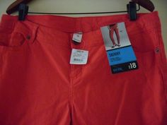 jeans red size 18 mid rise skinny  STRETCH NWT